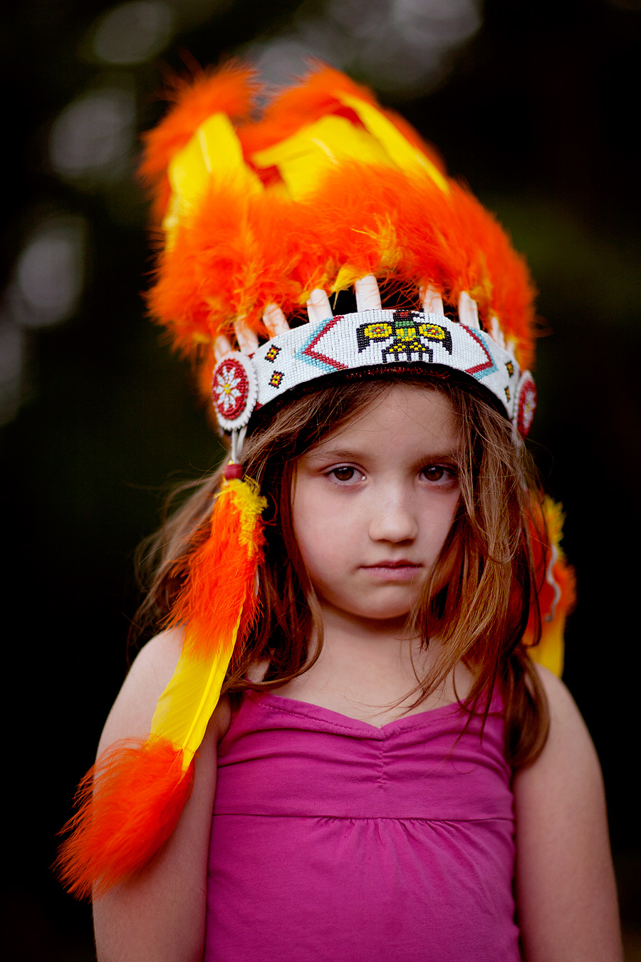 Red Indian Headdress